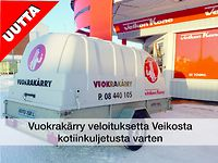 1 Vuokraa peräkärry. Ens. vrk 39€, seur. 22€. Ostaessasi meiltä kuljetusta tarvitsevan ison tuotteen, lainaamme vuokrakärryn veloituksetta lähialue(max 3h) kuljetusta varten.