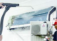 Ilmalämpöpumpun syväpuhdistus ja paineiden tarkistus 280€. Matkakustannusten (matka-aika + km) veloitus toteutuman mukaan työn valmistuttua.