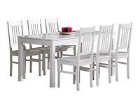 Emilia Pöytä 160x80 ja 6 tuolia